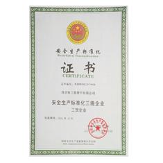 亿博电竞体育安全生产标准化证书
